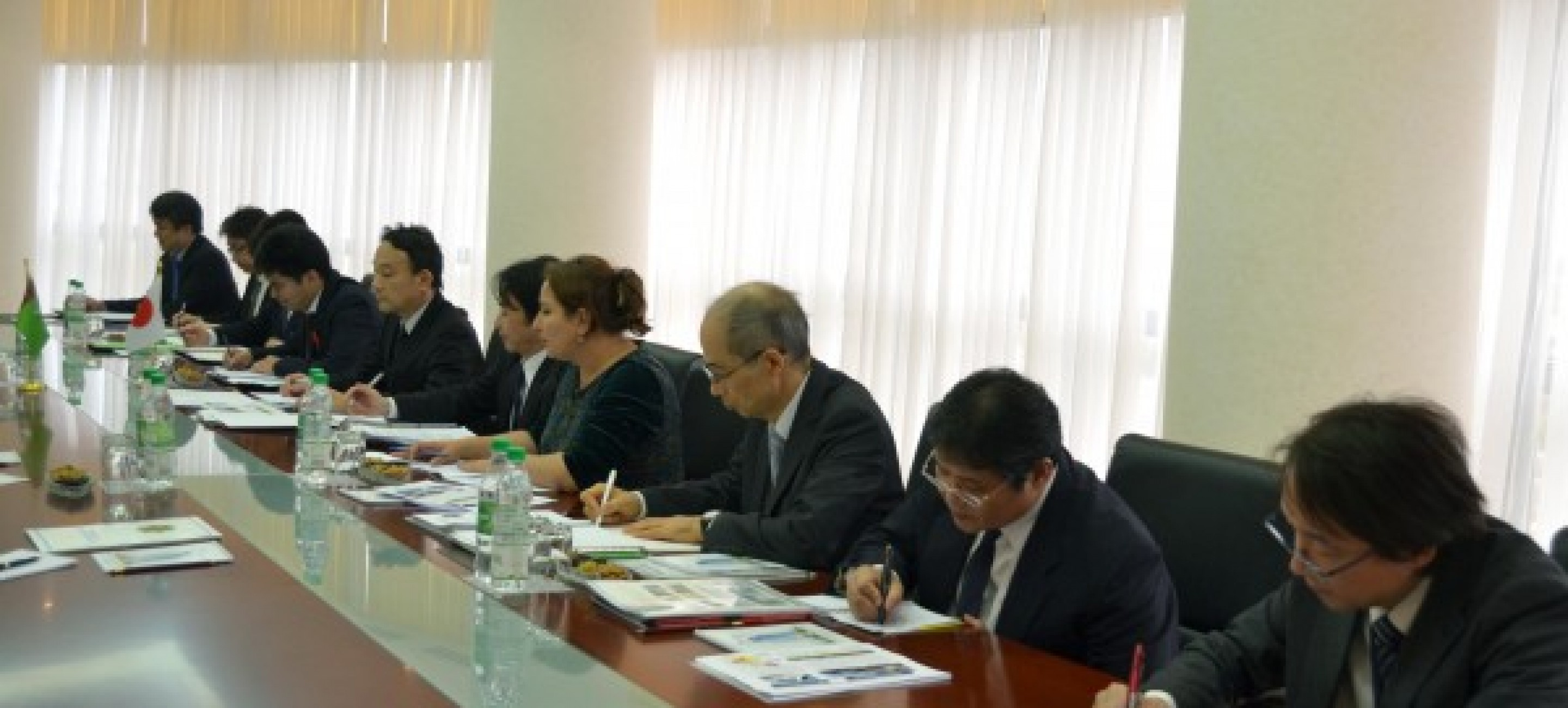 THE MEETING WITH JAPANESE DELEGATION TOOK A PLACE AT THE MFA OF TURKMENISTAN