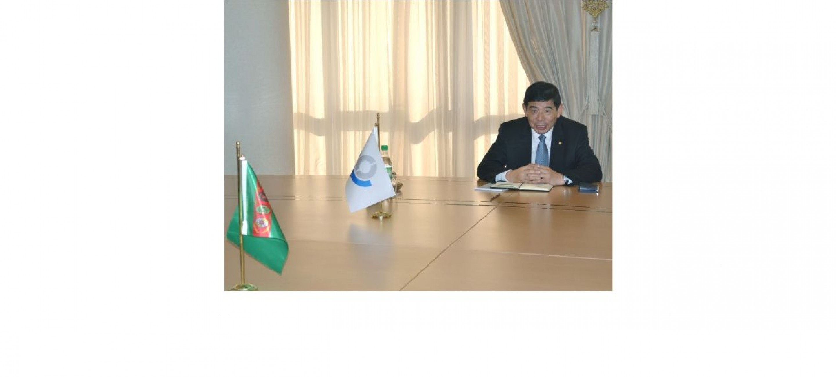A MEETING WAS HELD AT THE MFA OF TURKMENISTAN WITH THE WCO SECRETARY GENERAL
