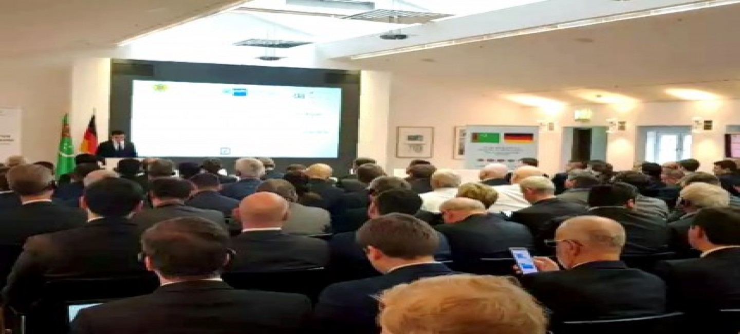 THE TURKMEN-GERMAN BUSINESS FORUM WAS HELD IN GERMANY