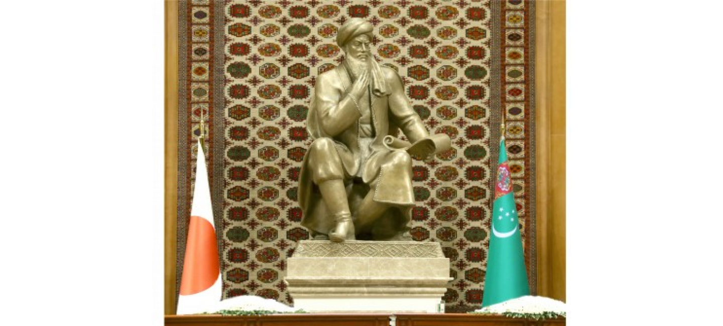 A TELEPHONE CONVERSATION WAS HELD BETWEEN THE PRESIDENT OF TURKMENISTAN AND THE PRIME MINISTER OF JAPAN