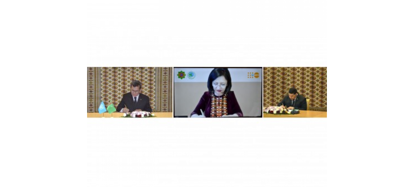 """A NUMBER OF BILATERAL DOCUMENT WERE SIGNED WITHIN THE FRAMEWORK OF THE INTERNATIONAL CONFERENCE """"TURKMENISTAN AND THE UNITED NATIONS: COOPERATION FOR PEACE AND TRUST"""""""
